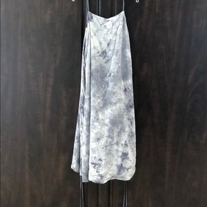 Gray and white tie dye summer dress